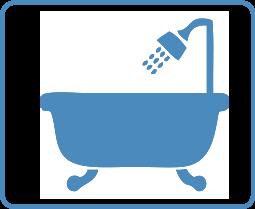 Bañeira con ducha