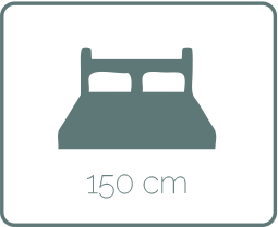 1'50cm Double Bed